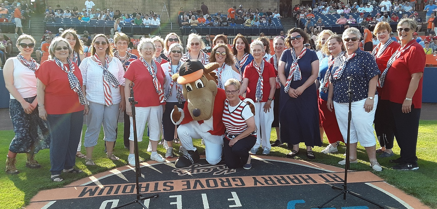 Singing for the Frederick Keys